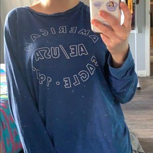 American Eagle blue long sleeve top